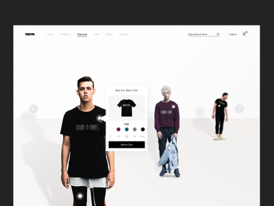 Ecommerce Carousel Concept product page web tshirt clothing fashion website branding landing page cart card carousel ecommerce sketch