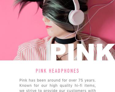 Headphones Mobile Site color ux ui sketch pink modern clean ios iphone ecommerce headphones mobile