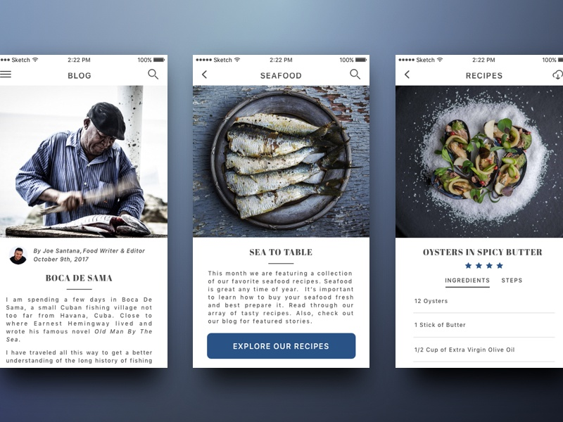 cooking food app by gabe becker dribbble