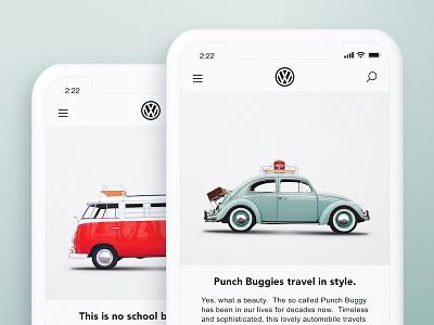 Automobile Mobile Mockup punchbuggy modern mobile branding advertising car automobile volkswagen iphone sketch