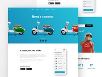 Scooter Rental Landing Page