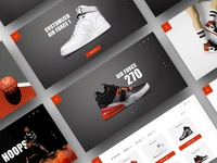 Basketball Sneaker Pages / Website