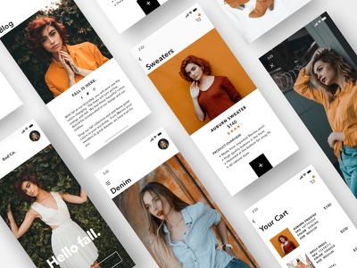 Women's Fall Fashion - Mobile Version fall blog ios mobile iphone x womens checkout cart minimal ux ui app ecommerce clothing fashion sketch