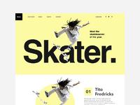 Skateboarder layout