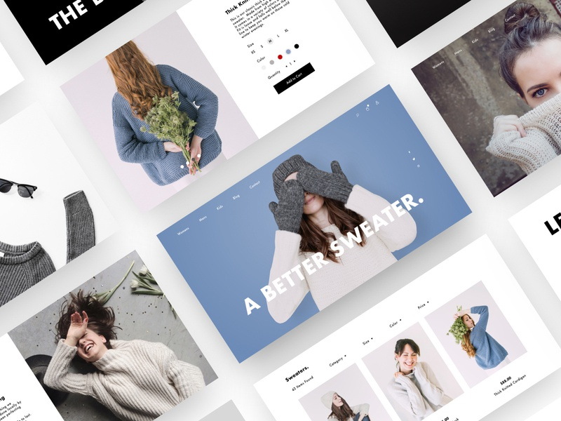 Ecommerce Pages clothing modern web design landing page minimal header website web ux ui checkout shop fashion ecommerce sketch