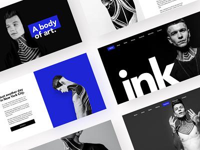 Tattoo Site design layout product design blackandwhite webdesign typography minimal landing page tattoo ux ui sketch