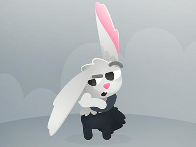 Gotinha CuteParty unity jogo gray coelho dark bunny cuteparty cutearmy game vector bunny character