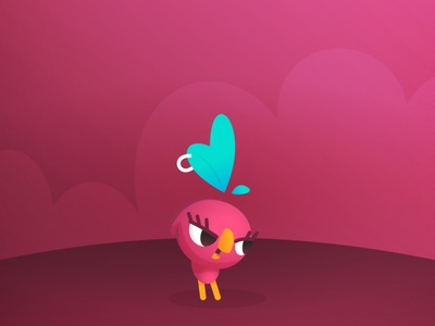 Gabi Cute Party pink cute party cute army game cutie character bird
