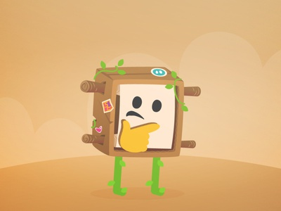 Steve Cute Party brown cardboard jogo games flat gamedev illustration cutearmy character game