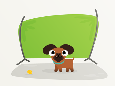 "Fred, the ""best"" friend! dog illustrator vector personagem game hero character"