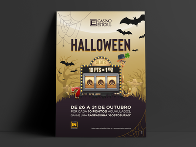 Halloween event poster spooky halloween slot machine casino illustration art photoshop design digital