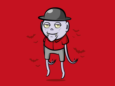 Vampire Bro motion graphics motion art digital magic creature monster vector bat red halloween vampire animation design character illustration