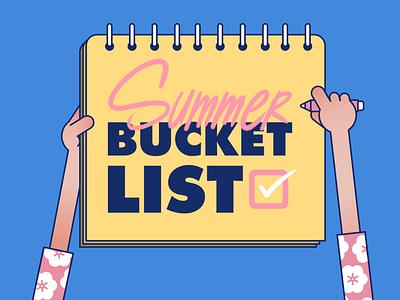 Summer Bucket List hands summer motion graphics after effects illustrator art design character illustration digital