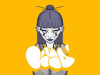 Viper yellow graffiti art design tag photoshop illustration character digital