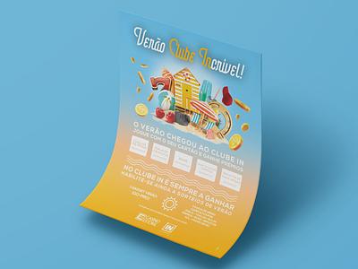 Summer Poster casino games summertime advertising poster photoshop design digital