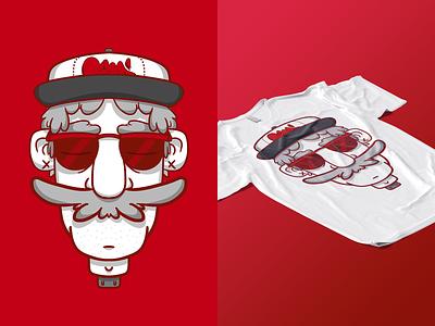 Unplug T-shirt print tag photoshop mockup red tshirt art digital graffiti character illustration