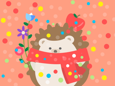 A hedgehog is waiting for his Christmas date