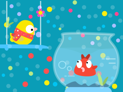 Hey buddy, good choice of the scarf scarf red snow cute buddy illustration christmas bird swing rock tank fish