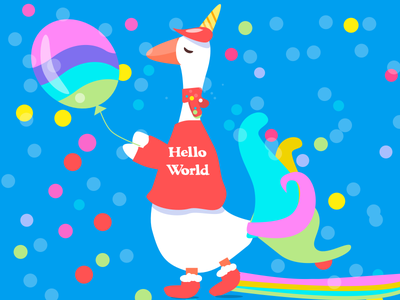 His costume for Christmas world unicom snow scard red rainbow illustration hello goose christmas boots balloon