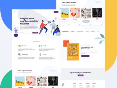 Slack Redesigned Homepage