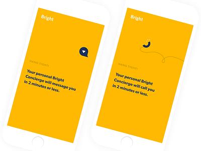Hang Tight! mobile sketch flat branding app vector typography design product ui ux illustration