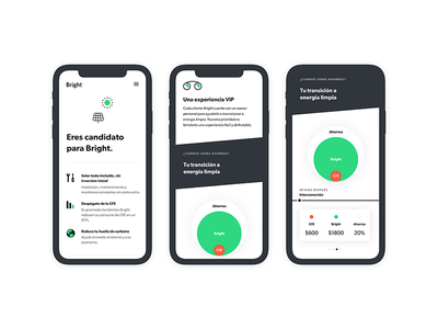 Bright – Estimate minimal web mobile ux branding app data illustration typography ui design product
