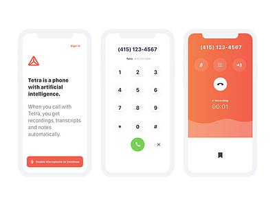 Tetra web type creative branding app mobile typography ui ux design product