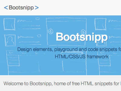Part of Bootsnipp homepage
