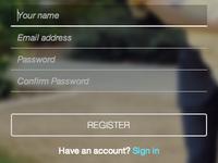 Wedding website application login