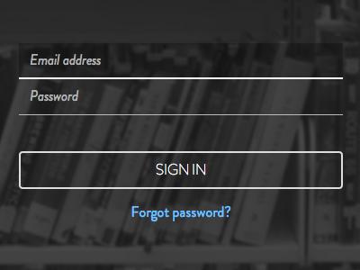 A login form for Bookpag.es login books form outline