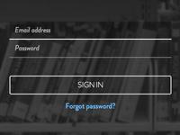 A login form for Bookpag.es