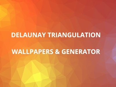 Triangulator tool triangles polygons delaunay open source