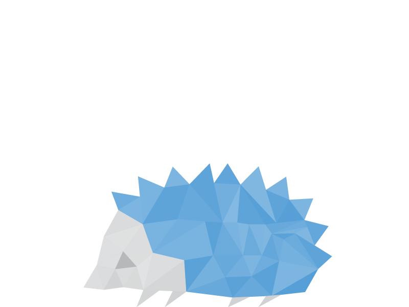 Hedgehog hedgehog triangles polygons