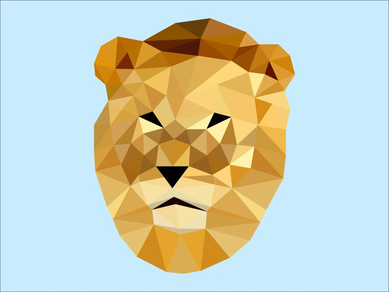 Lion King lion king low poly