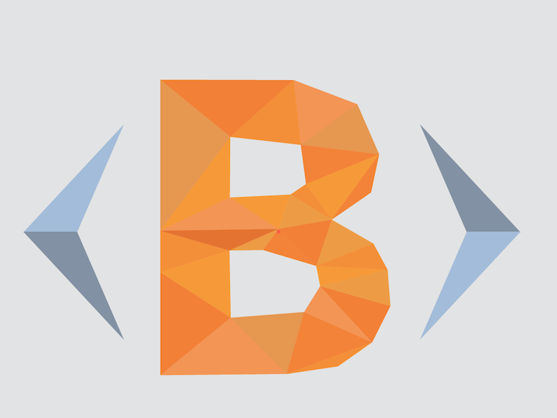 Low poly logo bootsnipp logo triangles low poly