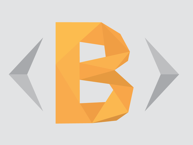 Logo redesign bootsnipp logo triangles low poly