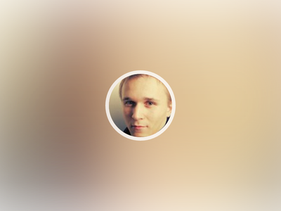 Using blurred profile image as background