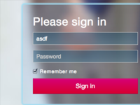 Sign in bootstrap