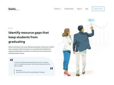 Illustration for the Stellic project (part 1) teamwork team website ux graphic woman man banner web ui noise texture cover gradient hero header illustration freebies download character
