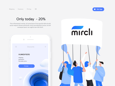 Illustration for Mircli part 4 web stroke noise light ios illustration icons gradient freebies download character blue