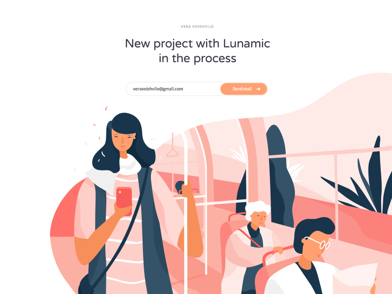Illustration with @Lunamik (part 2) web stroke noise light ios illustration icons gradient freebies download nature character