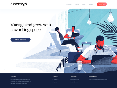 Illustration for the essensys.tech (part 1) banner digital team cover hero texture web noise header illustration freebies download character blue