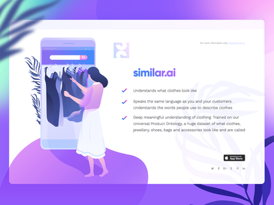 Illustration for the similar.ai web texture noise illustration icons hero header freebies download cover character blue