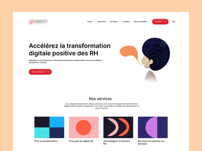 Landing page for a human resources company b2b web landing page design ux ui