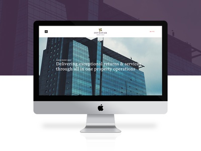 Investar iMac madebyshape shape responsive imac homepage web design design ux ui