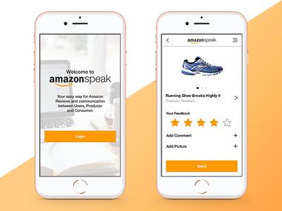 Amazon Speak I tool navigation icon ux concept ui screens app amazon speak comments consumer