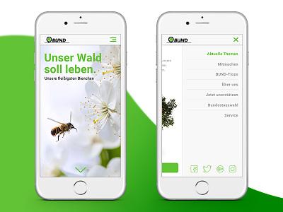 Donation Tree I mobile interface icon flat ui ux screens app ios11 minimal tree
