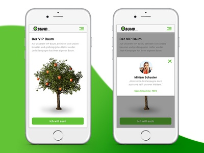 Donation Tree II tree minimal ios11 app screens ux ui flat icon interface mobile