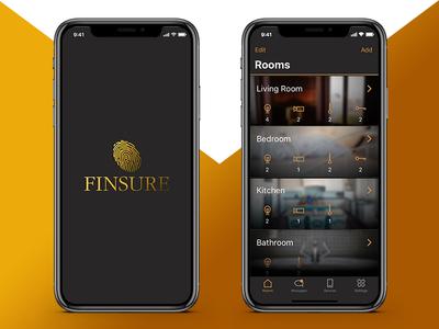 Smart Home App I smart minimal ios11 app screens ux ui flat icon interface mobile