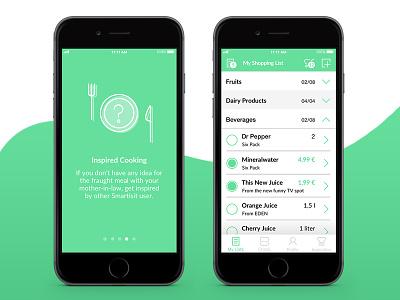 Smartist I smart minimal ios11 app screens ux ui flat icon interface mobile